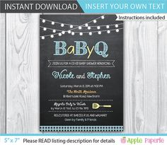 Hey, I found this really awesome Etsy listing at https://www.etsy.com/listing/190452655/bbq-baby-shower-invitation-bbq-baby