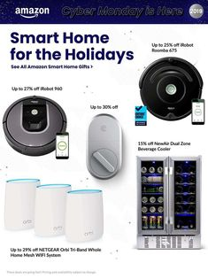 Amazon Cyber Monday Ad Scan, Deals and Sales 2019 The Amazon 2019 Cyber Monday ad is here! Be sure to subscribe to our newsletter to receive emails about all the latest Cyber Monday news and ad leaks ... #cybermonday #amazon Cyber Monday Ads, Monday News, August Smart Lock, Zone Cleaning, Wine Coolers Drinks, Amazon Black Friday, Home Gifts