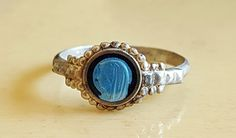 Antique French Silver and Blue Enamel Art Nouveau Virgin Mary Infant Child Ring Size US 2.75  Cameo Ring Baptism Gift Communion Gift by PinyolBoiVintage on Etsy