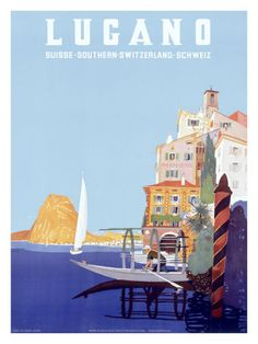 My Holidays - a vintage tourism-ad for Lugano/Switzerland