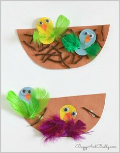 Spring Crafts for Kids: nest and baby bird crafts - preschool crafts Kids Crafts, Preschool Projects, Spring Crafts For Kids, Spring Projects, Daycare Crafts, Classroom Crafts, Summer Crafts, Easter Crafts, Holiday Crafts