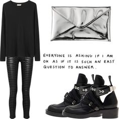"""""""Untitled #83"""" by le4ther ❤ liked on Polyvore"""