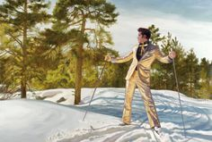 """Surreal large scale paintings of Elvis Presley, by Finnish Artist Markku Laakso. """"When I was seven years old the death of Elvis Presley made an indelible impression on me. Specifically his death. That moment when the man known to millions was ultimately transformed into a myth and how the myth began to live a life of its own."""""""