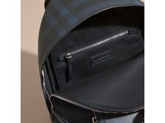 BURBERRY LEATHER-TRIMMED LONDON CHECK BACKPACK. #burberry #bags #leather #lining #pvc #backpacks #polyester #
