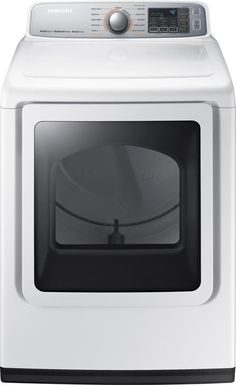 Samsung - 7.4 Cu. Ft. 11-Cycle Gas Dryer with Steam - White