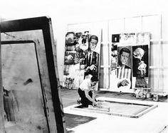 ROBERT RAUSCHENBERG. Broadway studio, New York, 1964. Hans Namuth.