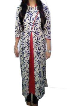 India Tunic Top Dress Rayon Staple Printed Kurtis Party Wear Women Ethnic Kurti
