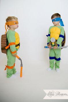 Easy, DIY Teenage Mutant Ninja Turtle Costumes (TMNT)!