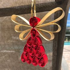 Paper Quilling Cards, Quilling Work, Paper Quilling Jewelry, Paper Quilling Patterns, Quilled Paper Art, Quilling Paper Craft, Neli Quilling, Paper Crafting, Christmas Angel Crafts