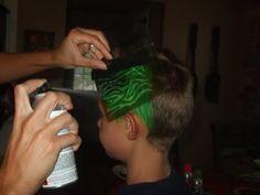 DIY Hair Stenciling ~ The Hot New Thing! (she: Roberta) - Or so she says...