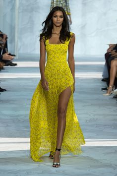 DVF Spring 2015 !! #dress #fashion #yellow