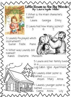 Little house in the big woods novel study little houses for Little house in the big woods coloring pages