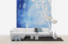 White Droplets - Wall Mural & Photo Wallpaper - Photowall