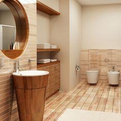 Bathroom Idea: Roundness!