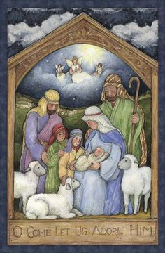 Holy Night Christmas Fabric Panel by Susan Winget Nativity 100% Cotton Crafts