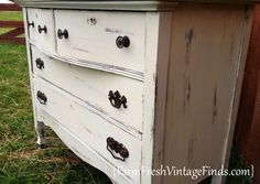 Vintage White Painted Furniture Roundup - Farm Fresh Vintage Finds