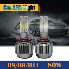 37.20$  Watch now - http://aixu7.worlditems.win/all/product.php?id=32706472868 - H8 H9 H11 80W 8000LM LED Bulb 6000K White Replacement Car Fog Light Headlight DRL Daytime Running Lamp