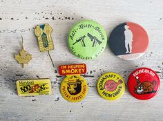 Canada Set of vintage pins badge metal colorful  Maryland bear backpack Accessories