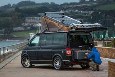 Removable camper-van kitchen pods for VW vans & all other types of vans. Camping Pod, Van Camping, Sprinter Camper, Vw Camper, Vw Transporter Campervan, Vw California Beach, Camper Van Kitchen, T2 T3, Campervan Interior