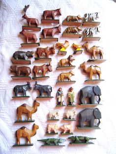 Noah's Ark Animals Erzgebirge Carved Werner by ParlezVousGrits, $78.00 #wood
