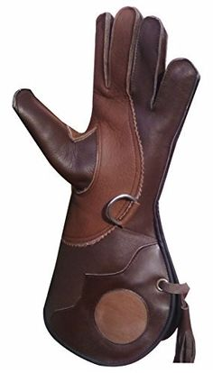 Falconry New Triple Layer Natural Dual Brown Color Gloves