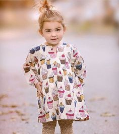 Another cutie in her cupcake dress!! (With our leopard leggings) Thanks @fritzandgigi for sharing!! #adeledress 🍰🎂🍰🎂