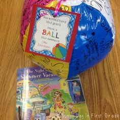 """I had a ball"" freebie tag for end of year student gift"