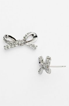 kate spade new york 'skinny mini' bow stud earrings available at #Nordstrom