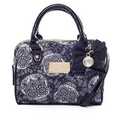 I love the Betsey Johnson Lacey Skulls Mini Satchel from LittleBlackBag