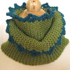 A warm scarf for St. Patrick's Day and on all the cool Spring days to come. Hand Knitted & Crocheted Merino Wool by KnittingGuru.