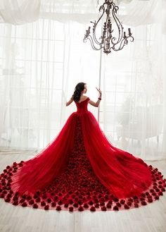 IG: @dress.empire Rose Dress, Red Roses, Ball Gowns, Formal Dresses, Empire, Fashion, Pink Sundress, Ballroom Gowns, Dresses For Formal