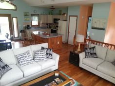 "The great room on main level of our Deep Creek Lake vacation rental ""Whisp - p -Doo."
