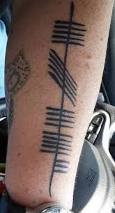 """fiery"" (created from Ogham Art presentation) Ogham Tattoo, I Tattoo, Tattoo Quotes, Ogham Alphabet, Ink Art, Creative Inspiration, Body Art, Piercings, Hippy"