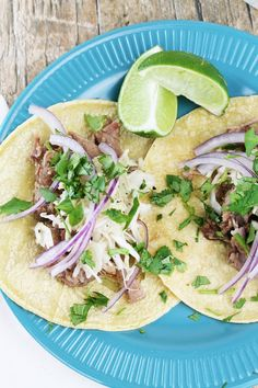 The Stay At Home Chef: Slow Cooker Cuban Mojo Pork Tacos