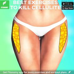 Get rid of cellulite workout! – Fitonomy Get rid of cellulite workout! Struggling with cellulite? Here are some of the best exercises from our app to get rid of it! For the full training plan click the link below and install the app now Fitness Workouts, Hip Workout, Workout Videos, Fitness Tips, Fitness Motivation, Dumbbell Workout, Cellulite Exercises, Thigh Exercises, Cellulite Workout