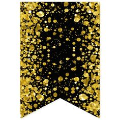 Birthday Card Design, Birthday Cards, Birthday Parties, Banner Letters, Diy Banner, Happy Birthday Black, Gold Confetti, Bunting Banner, Flag Design
