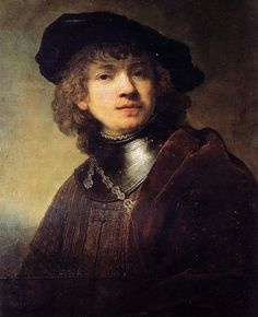 Rembrandt Van Rijn - Self-Portrait as a Young Man at Uffizi Gallery Florence Italy