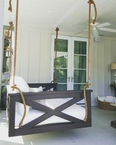 Not your average porch swing! Our swing beds are hand-built, unique and customized per client. If you can dream it, we can build it. Low country swing beds $1000