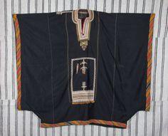 4'1'' x 3'6'' Vintage Traditional YEMENI Bedouin dress, tribal costume, caftan, coat, dress, ships free with ups