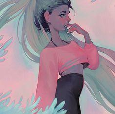 Loish illustration woman hair
