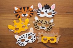 Wild Things - Safari Felt Animal Mask PDF Sewing Pattern from Willow &…