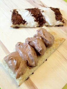 Puff pastry with chocolate mousse