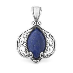 Relios Sterling Silver Lapis Statemen... by necklaceme