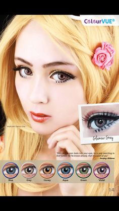 Glamour Grey contacts Get them at www.ohmykitty.com #cosplayers #ohmykittydotcom #contacts #circlelenses #popular #cosplay #eyes #makeup #halloween #costumes Grey Contacts, Circle Lenses, Picture Collection, Halloween Costumes, Glamour, Cosplay, Popular, Eyes, Makeup