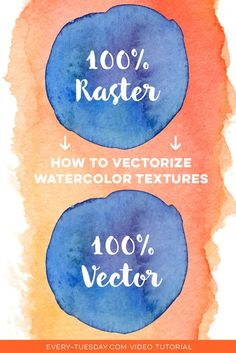 Adobe Illustrator // How to Vectorize Watercolor Textures with Adobe Illustrator Graphisches Design, Graphic Design Tools, Graphic Design Tutorials, Tool Design, Graphic Design Inspiration, Vector Design, Design Posters, Cover Design, Design Elements
