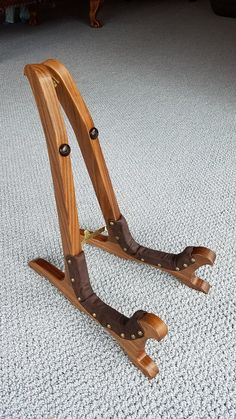 American walnut guitar stand by RJsWoodwork on Etsy