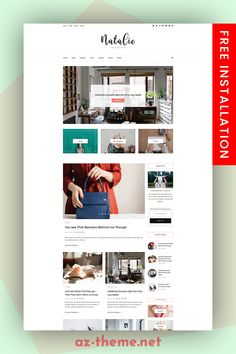 f you need to reach a feminine target market, then this NATALIE WordPress blog theme template is ideal. Whet her you are a lifestyle or fashion blogger or need it for your ecommerce website, this simple blog template is both responsive and super easy to install and use. The minimal style and color palette of this blog design means that the template will provide a structure that will work excellently for both business websites and blogs. #blogs #wordpress #shop
