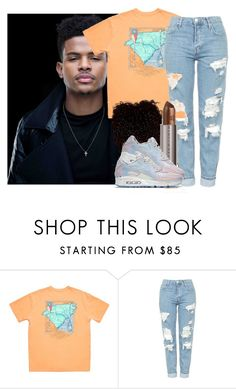 """""""drop it -Trevor Jackson"""" by pretty-ambi ❤ liked on Polyvore featuring Topshop, Urban Decay and NIKE"""