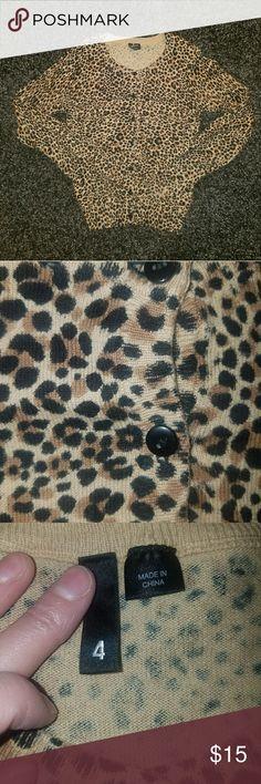 Leopard Print Cardigan Leopard Print longsleeve Cardigan, worn once. H&M Sweaters Cardigans