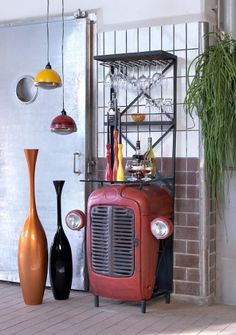 Vespa Pendants Lights. Being a die hard Scooter Boy, these were always going to be a firm favourite in Mr Smither's book. Original vintage auto scooter parts, and available in red, green, yellow and blue with just the right amount of vintage detailing, these pendants guarantee to be the perfect pop of patina colour your home is in dire need of. Retro, fresh and bravissimo!!!